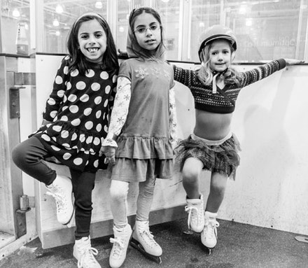 Floyd Bennett Field provides the perks of suburbia without having to leave the borough. Layla, Maia, and Charlie are thrilled to hit the ice at the Aviator Sports center even if it means taking a couple of buses down Flatbush Avenue from their home in Kensington.