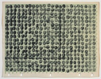 "Joel Shapiro, ""Untitled,"" 1969. Ink on numbered graph paper, 7-13⁄16 x 9-15⁄16"". Private Collection."