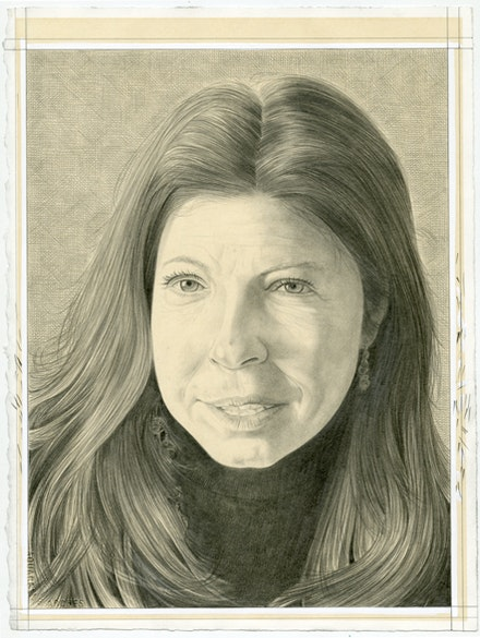 Portrait of Anne Pasternak. Pencil on paper by Phong Bui.