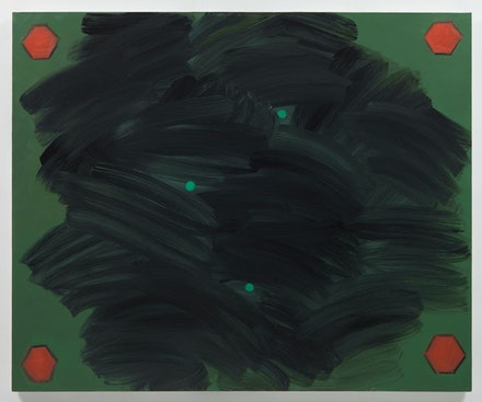 "Robert Bordo, ""The Black Dog,"" 2012. Oil on linen stretched over panel, 42 ¼ x 51 ¼"". Photo: Joerg Lohse. Image courtesy Alexander and Bonin, New York."