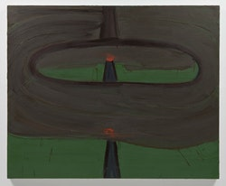 "Robert Bordo, ""DWI,"" 2012. Oil on canvas, 45 x 55"". Photo: Joerg Lohse. Image courtesy Alexander and Bonin, New York."