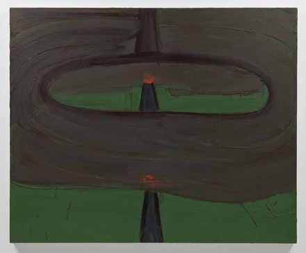 "Robert Bordo, ""DWI,"" 2012. Oil on canvas, 45 x 55"". Photo: Joerg Lohse	. Image courtesy Alexander and Bonin, New York."