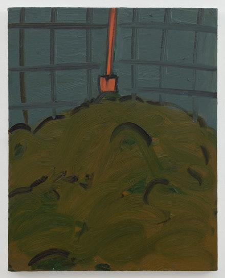 """Robert Bordo, """"the studio,"""" 2013. Oil on linen, 25 x 20"""". Photo: Joerg Lohse. Image courtesy Alexander and Bonin, New York."""