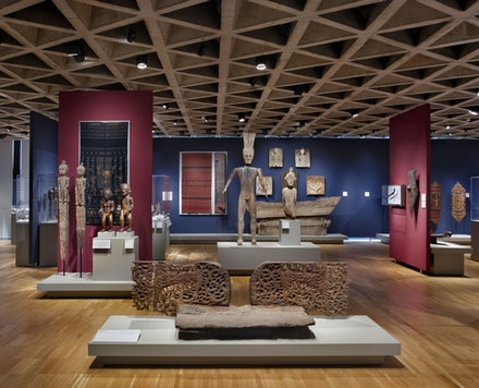 View of Indo-Pacific art galleries, Yale University Art Gallery. Copyright Elizabeth Felicella, 2012.