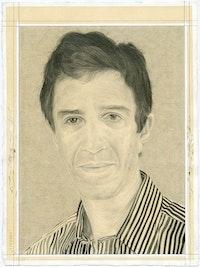 <p>Portrait of Vincent Katz. Pencil on paper by Phong Bui.</p>