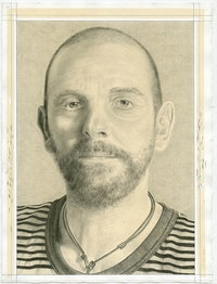 <p>Portrait of the artist. Pencil on paper by Phong Bui.</p>