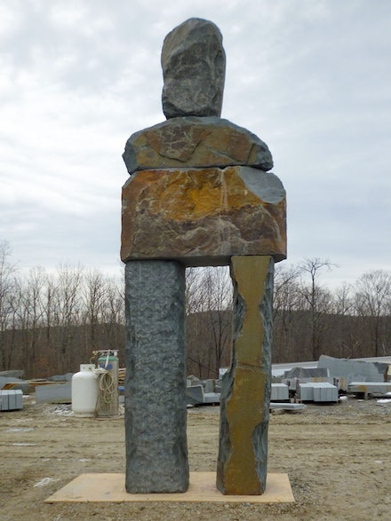 "Ugo Rondinone, ""The Tender,"" 2013. Blue stone, 518 cm (height)."