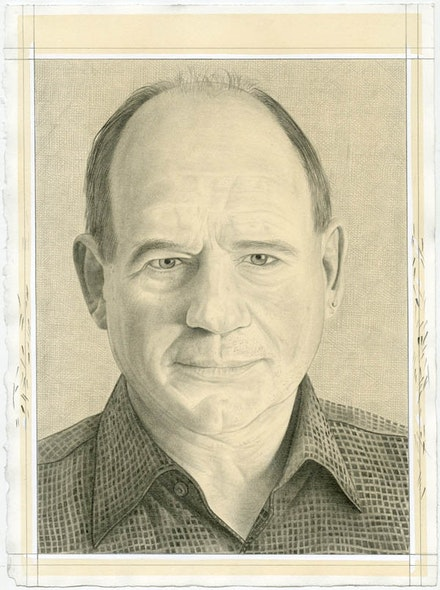 Portrait of Christopher French. Pencil on paper by PhongBui.