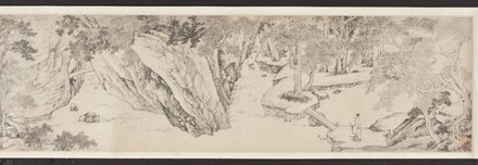 """Xiang Shengmo (1597-1658), """"Invitation to Reclusion(detail),"""" 1625-1626. Ink on paper, handscroll. Los Angeles County Museum of Art, Los Angeles County Fund."""