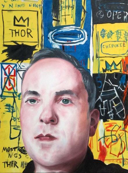 Noah Becker, Self Portrait,� 2013. 30 x 40, oil on canvas.