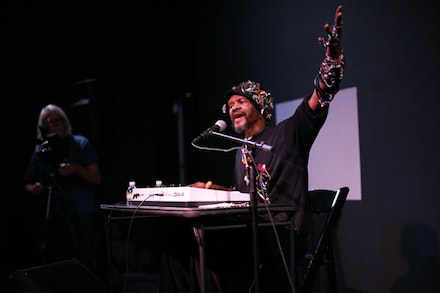 Lonnie Holley at the Whitney Museum. Photo: Matt Arnett.