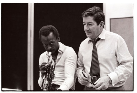 Teo Macero and Miles Davis. Photo: Don Hunstein (c) Sony Music Entertainment.