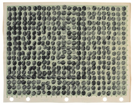 """Joel Shapiro, """"Untitled,"""" 1969-70. Ink on paper. 17 ½ x 17 ½"""". Private Collection, Dallas."""