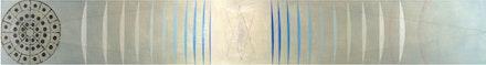 """Ben La Rocco, """"Eleven,"""" 2013. Oil and graphite on panel, 11 x 85"""". Courtesy of Janet Kurnatowski Gallery and Ben La Rocco."""