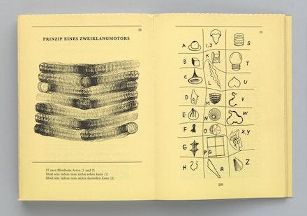 "Dieter Roth, ""Codex from MUNDUNCULUM: A tentative logico-poeticum, represented as plan and program or dream for a provisional mythebarium for visionary plants.VOLUME 1: Rot's VIDEUM (MUNDUNCULUM: Ein tentatives Logico-Poeticum, dargestellt wie Plan und Programm oder Traum zu einem provisorischen Mythebarium für Visionspflanzen. BAND 1: Das rot'sche VIDEUM),"" 1967. Artist's book, offset printed, with letterpress cover. Publisher: Verlag M. Dumont Schauberg, Cologne. Printer: BossDruck, Kleve, Germany. Edition: 1,000. The Museum of Modern Art Library, New York. The Gilbert and Lila Sullivan Fluxus Collection Gift. Photograph: Jonathan Muzikar. © 2013 Estate of Dieter Roth."