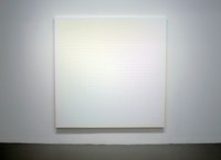 "Sanford Wurmfeld, ""II-16 + B (Light),"" 2013, Acrylic on canvas, 72 x 72""."