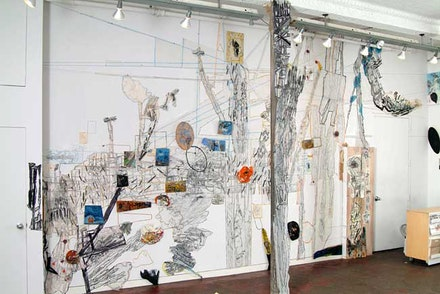 Installation view, <i>Out of Line</i>, Susanna Heller, Sideshow Gallery.