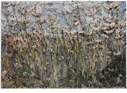"Anselm Kiefer, ""der Morgenthau-Plan,"" 2012. Emulsion, acrylic, on photograph on canvas. 110 1/4 x 149 5/8"". © Anselm Kiefer. Courtesy Gagosian Gallery. Photo: Charles Duprat."