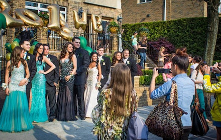 <p>As these Bishop Kearney girls head into their limo for the prom, cooing relatives and neighbors snap hundreds of photos, stopping traffic. </p>