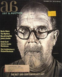 "Joseph Karoly, ""Art & Auction-Chuck,"" fresco on canvas."