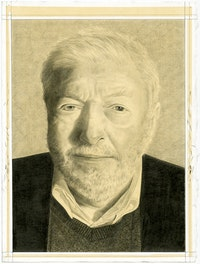 Portait of Peter Kubelka. Pencil on paper by Phong Bui.