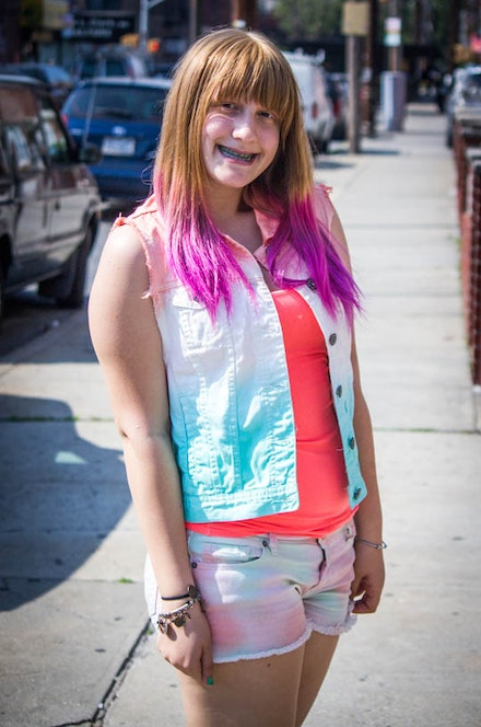 While Gabbie enthusiastically showed off her pink hair and tie-dye, her neighbor ran out of the house screaming for me to be kicked out of the neighborhood.