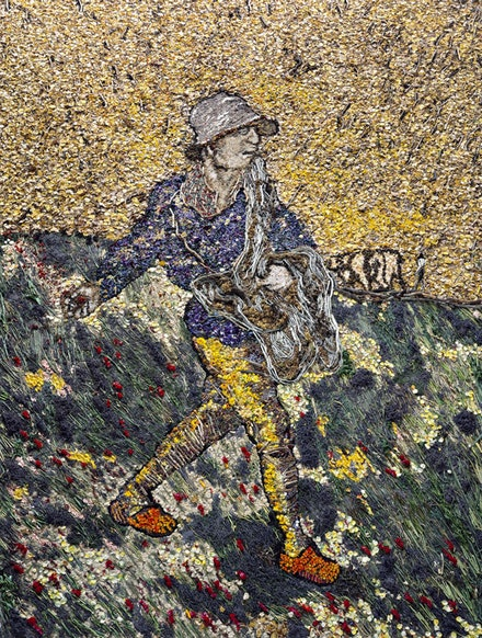 "Vik Muniz, ""The Sower, after Van Gogh,"" 2011. Courtesy of the artist."