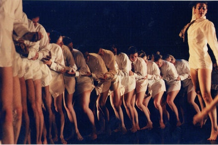 Abby Bender's SWARM at WAX, 2001. Photo: A.L. Steiner.