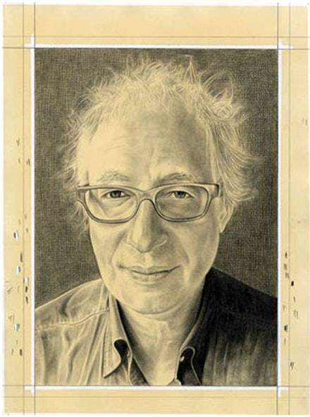 <p>Portrait of Terry Winters. Pencil on paper by Phong Bui. </p>
