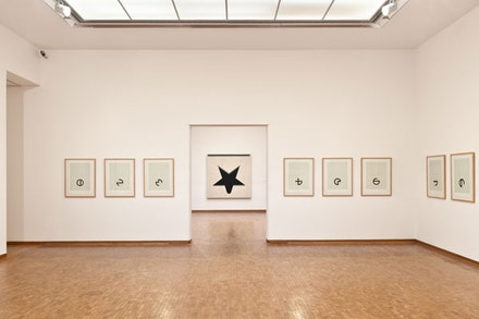 "Jo Baer, ""Untitled (White Star),"" 1960-61. Oil on Canvas, 183 x 183 cm. Courtesy of Kröller-Müller Museum, Otterlo."