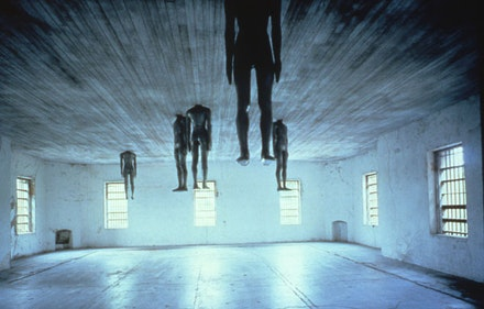 "Antony Gormley, ""Learning To Think,"" 1991. Places with a Past, Spoleto Festival USA. Photo: John McWilliams."