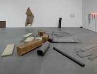 "Richard Serra, ""Early Work,"" 2013. Installation view, <i>Richard Serra Early Work</i>, David Zwirner, New York, 2013. Photo: Tim Nighswander © 2013 Richard Serra/Artists Rights Society (ARS), New York. Courtesy of David Zwirner, New York/London."