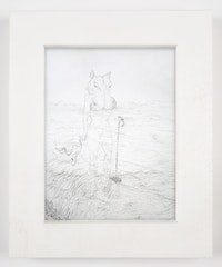 "Matthew Barney, ""SEKHEM: Isis,"" 2008. Graphite on paper in polyethylene frame, 14 1/4 x 11 3/4 x 1 1/4"". Photo: David Regen. Copyright Matthew Barney. Courtesy Gladstone Gallery, New York and Brussels."