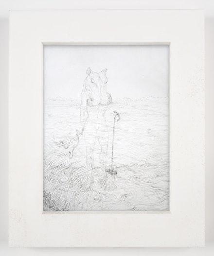 "Matthew Barney, ""SEKHEM: Isis,"" 2008. Graphite on paper in polyethylene frame, 14 1/4 x 11 3/4 x 1 1/4"". Photo: David Regen. Copyright Matthew Barney. Courtesy Gladstone Gallery, New York and Brussels."
