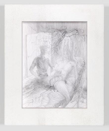 "Matthew Barney, ""KHU: Birth of Anubis"" 2011. Ink on paper in polyethylene frame. 14 1/4 x 11 3/4 x 1 1/4"". Photo: David Regen. Copyright Matthew Barney. Courtesy Gladstone Gallery, New York and Brussels."