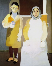 "Arshile Gorky, ""The Artist and His Mother,"" Oil on canvas, 60 × 50"". Whitney Museum of American Art, New York; gift of Julien Levy for Maro and Natasha Gorky in memory of their father. © 2010 The Arshile Gorky Foundation / Artists Rights Society (ARS), New York."