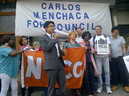 Menchaca's June campaign launch. Photo by T. Hamm.