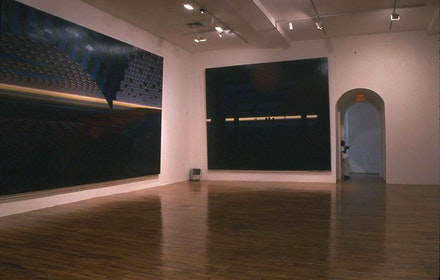 Al Held, installation. Exhibition curated by Alanna Heiss with PS1 Associate Curator Daniel Marzona. (2002)