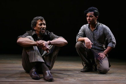 Photograph by Joan Marcus, featuring Reg E. Cathey and Andre Holland. Courtesy of Playwrights Horizons.