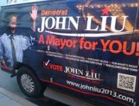 <i>John Liu campaign van</i>