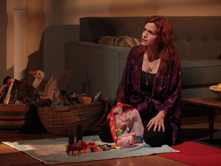 Carla Gugino in LCT3's production of <em>A Kid Like Jake.</em> Photo: Erin Baiano.