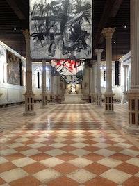 Interior view of Scuola Grande di San Rocco, Venice.