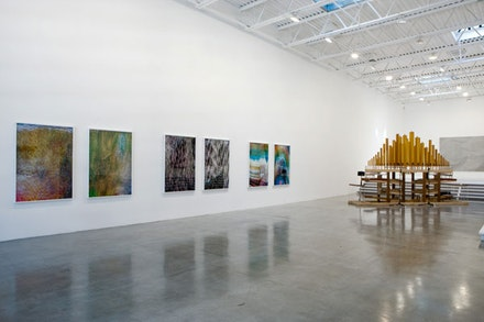 Installation view from Tauba Auerbach: Here and Now/And Nowhere, Deitch Projects, 2009. Courtesy Paula Cooper Gallery, New York.