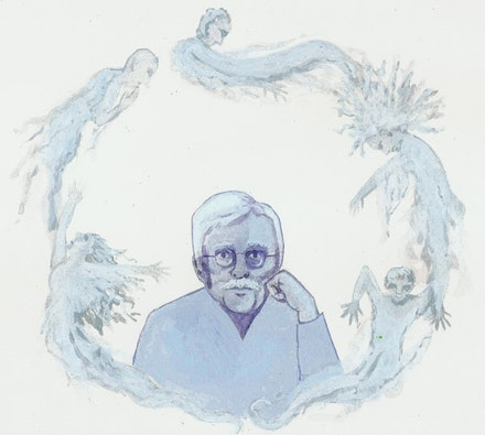 """...Van Dyke Parks, and ghosts."" Illustration by Megan Piontkowski."