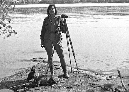 Michelle Stuart with her dog Gordon of Khartoum.