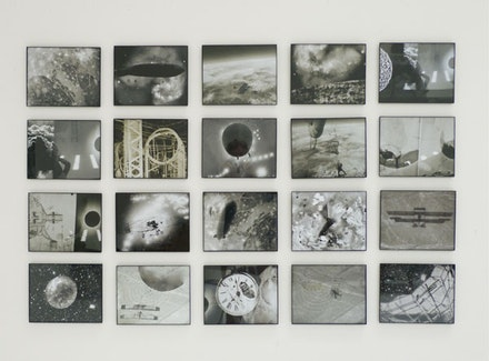 """Michelle Stuart. """"Land/Space/Time,"""" 2011. Altered archival inkjet photographs, 38 x 58"""". Collection of the Santa Barbara Museum of Art. Copyright Michelle Stuart. Image courtesy Leslie Tonkonow Artworks + Projects, New York."""