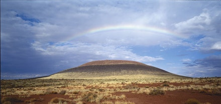 "James Turrell. ""Roden Crater Project,"" view toward northeast. Photo © Florian Holzherr."