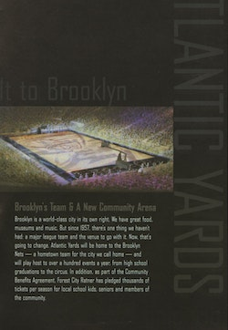 An excerpt from a 2007 Atlantic Yards promotional flier.