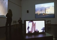 The Plains of Sweet Regret, 5-channel video and sound installation. North Dakota Museum of Art; Lennon,Weinberg Gallery.
