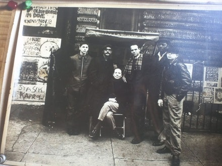 A young Dorothea Baer Tyler in the Lower East Side, flanked by Richard Oviet Tyler, his hand on her shoulder. Image courtesy of the Uranian Phalanstery.